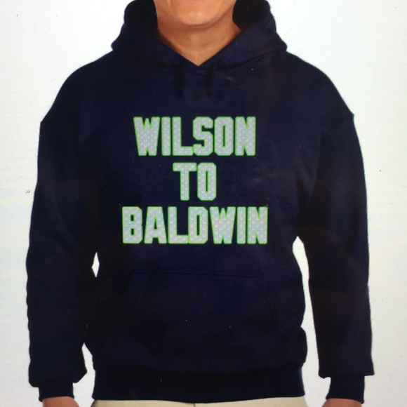 the latest 9b634 03029 Seattle Seahawks Wilson To Baldwin sweatshirt